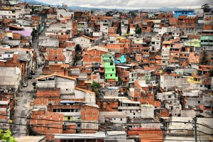 The neighbourhood of Cabucu, in the outer peripheries of Sao Paulo, Brazil. Photo by Roberto Rocco.