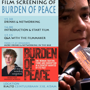 NALACS Film Screening BURDEN OF PEACE + Networking Event 27 NOV at Rialto, Amsterdam