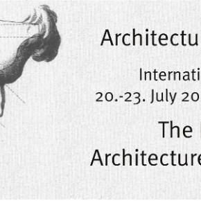 """The Human in Architecture and Philosophy: Towards an Architectural Anthropology"" 3rd International Conference of the International Society for the Philosophy of Architecture (ISPA) July 20 -23, 2016 - Department of Philosophy, University of Bamberg"