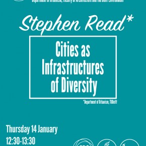 "Stephen Read's ""Cities as Infrastructures of Diversity"": 14 JAN 12:30 BK"