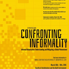 Confronting Informality Symposium : CALL FOR POSTERS