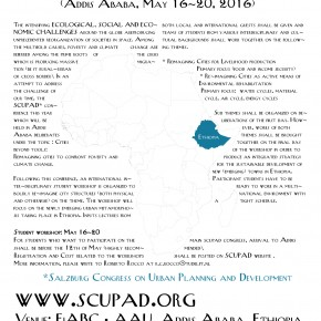 Scupad* student Workshop Ethiopia, 16-20 May 2016 in Addis-Ababa