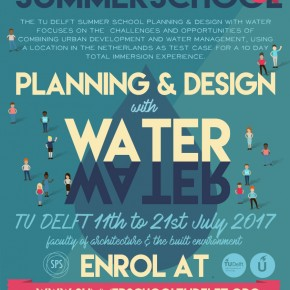 Join the mailing list about the 2017  TU Delft Summer School Planning & Design with Water