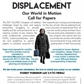 SCUPAD Congress: Displacement: Our world in motion, Deadline for abstracts extended!