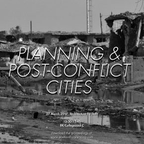 Post-Conflict Planning - Continue the discussion!: 27 March 12h30 Faculty of Architecture ROOM C