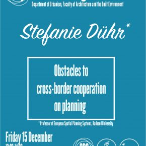 SPS Seminar 'Obstacles to cross-border cooperation on spatial planning': Stefanie Dühr, 15 December 2017, 13:00
