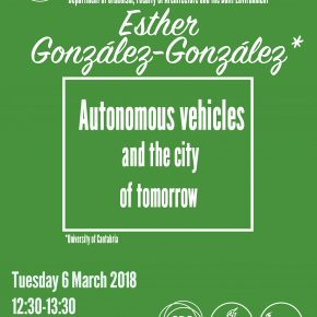 SPS Seminar: Esther González-González - Autonomous vehicles & the city of tomorrow