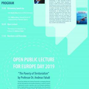 Andreas Faludi's talk at Polis University and Co-Plan, celebrating Europe Day.